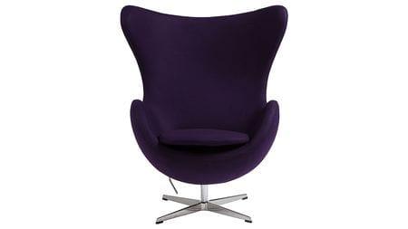 Кресло Egg Chair Тёмно-фиолетовое 100% Шерсть М