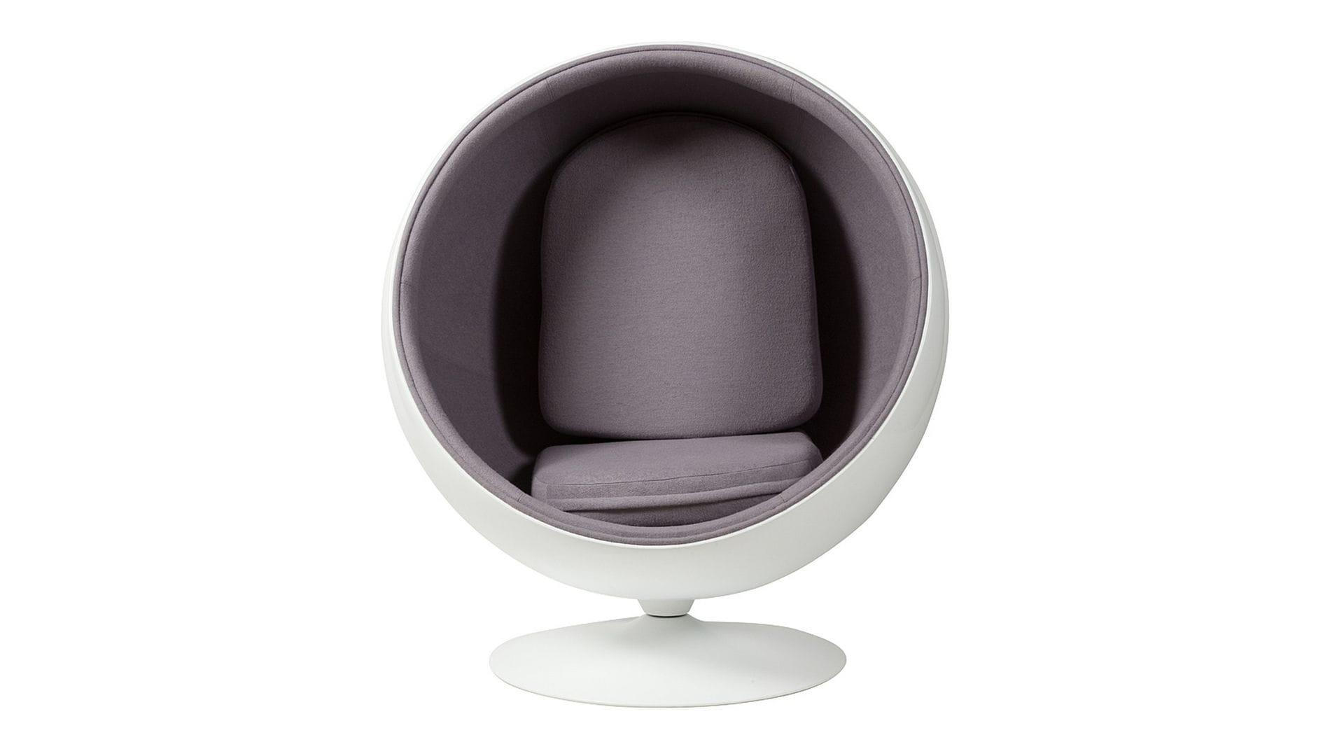 Кресло Eero Ball Chair Серая Шерсть