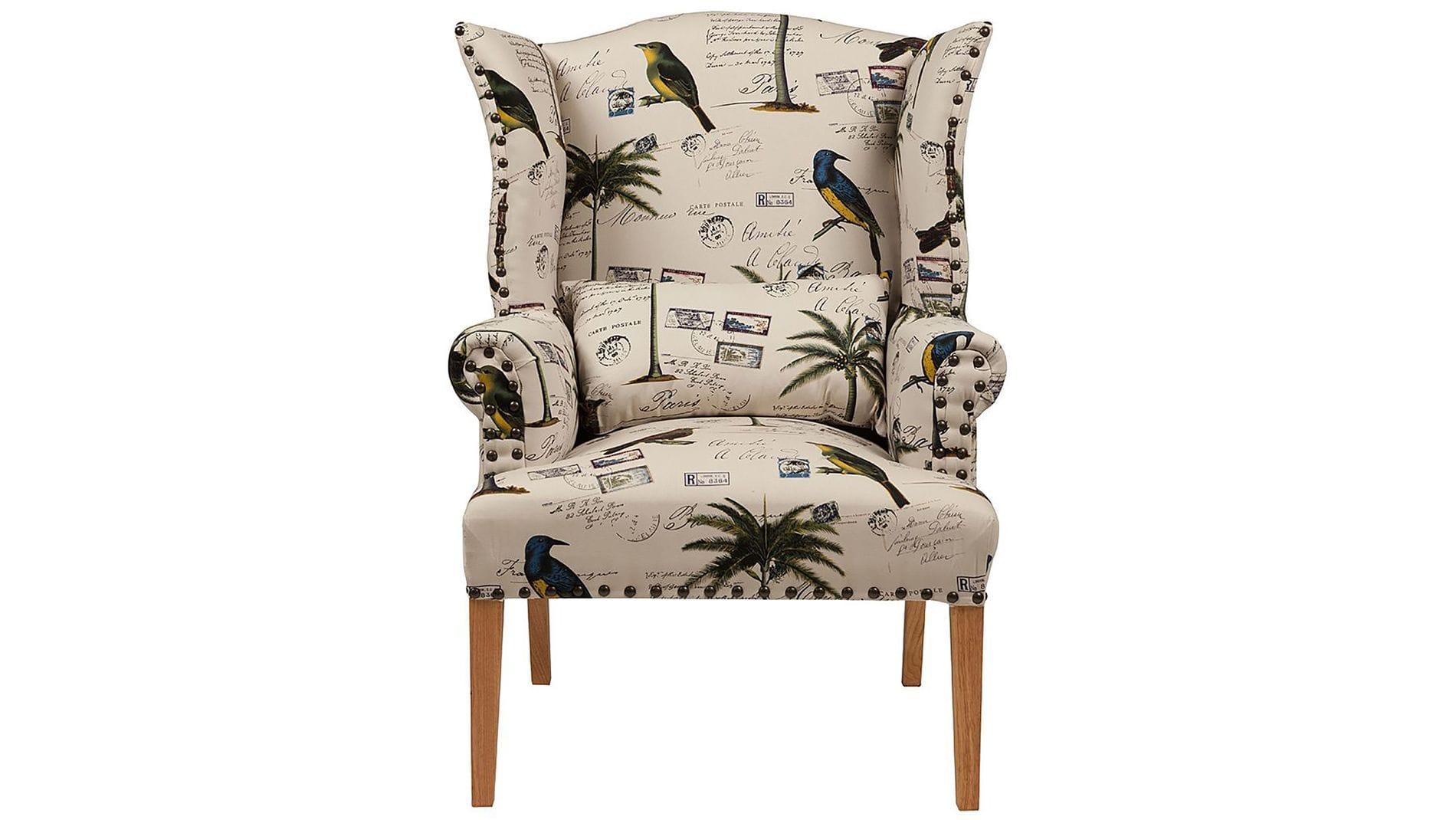 Кресло Quinn Tufted Armchair с рисунком