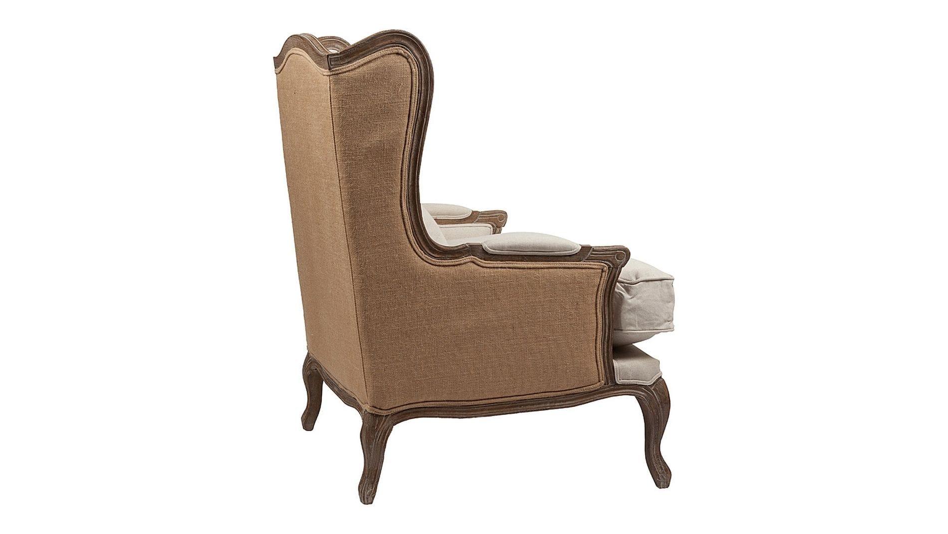 Кресло Lorraine Chair with Burlap Бежевое Лен