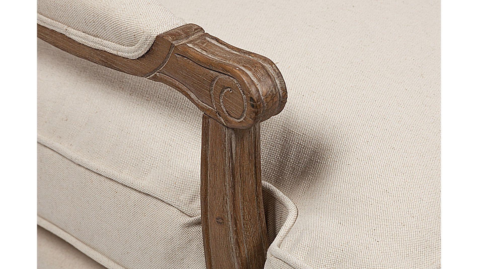 Кресло Louisa Bergere Chair Белый Лен