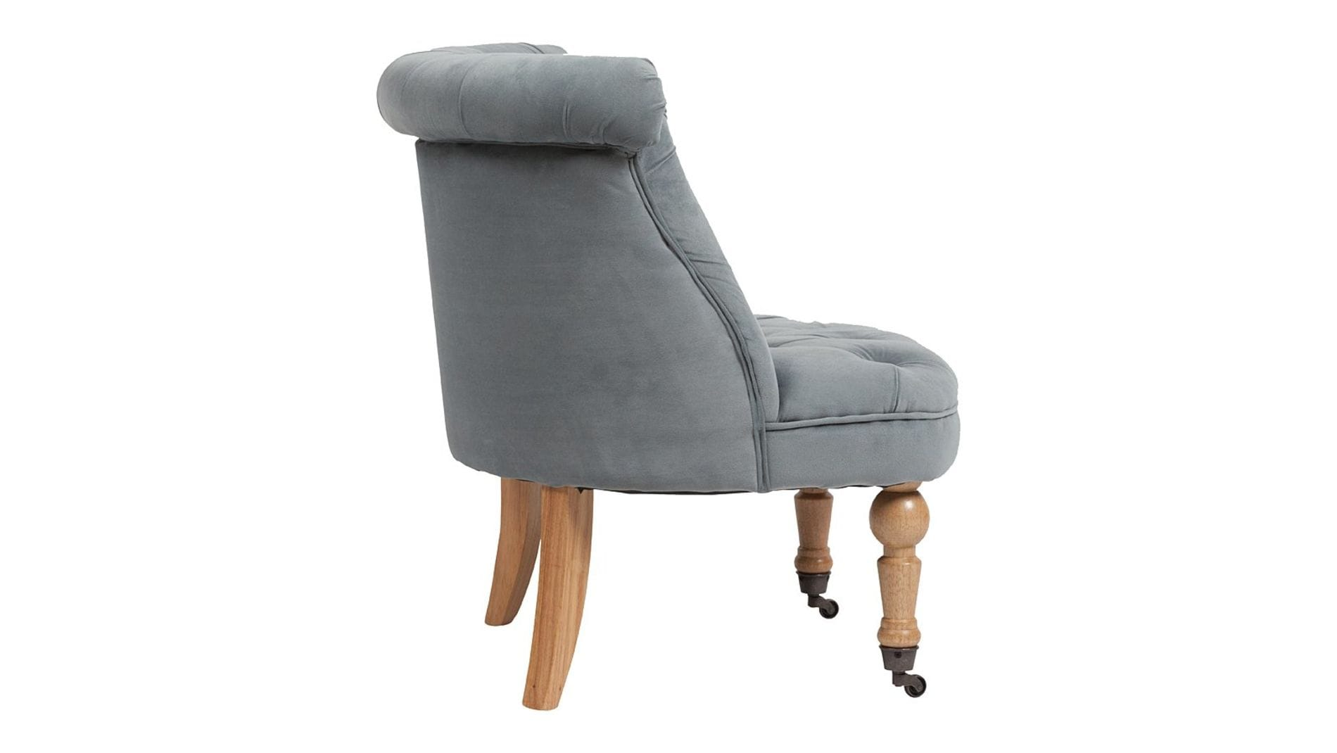 Кресло Amelie French Country Chair Серо-синий Вельвет М
