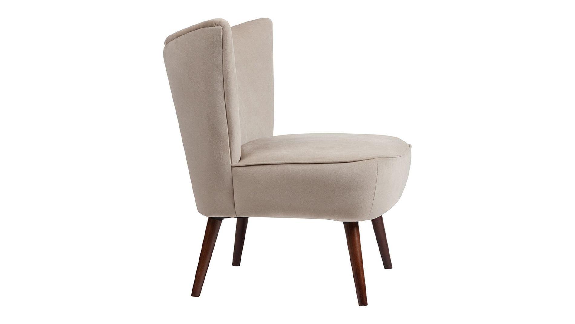 Кресло Vermont Chair Серо-Бежевый Велюр Р