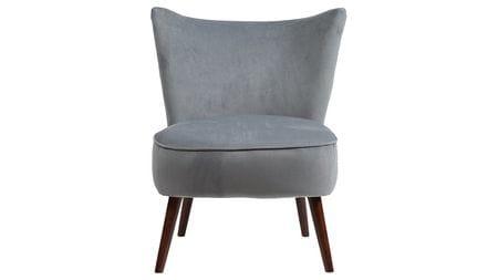 Кресло Vermont Chair Серо-Синий Велюр Р