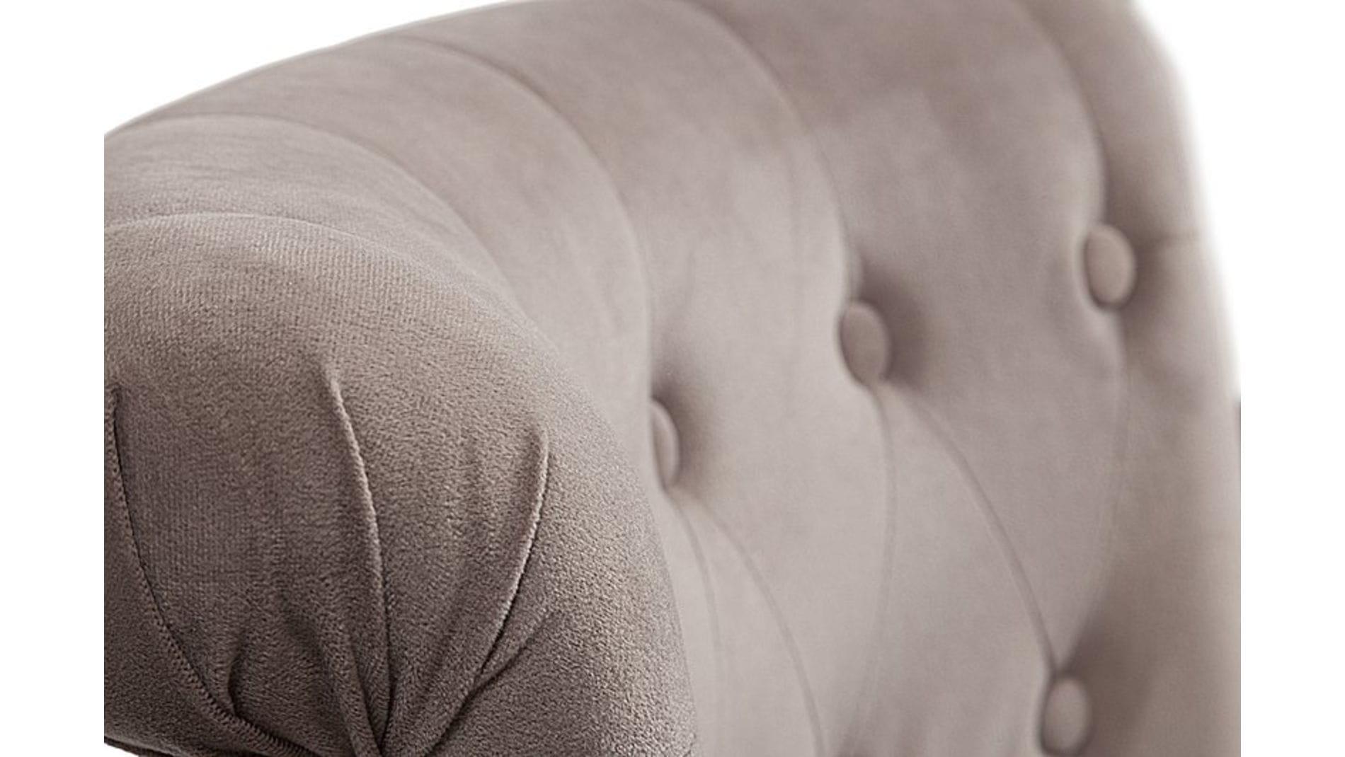Кресло Dawson Бежево-коричневый Велюр М