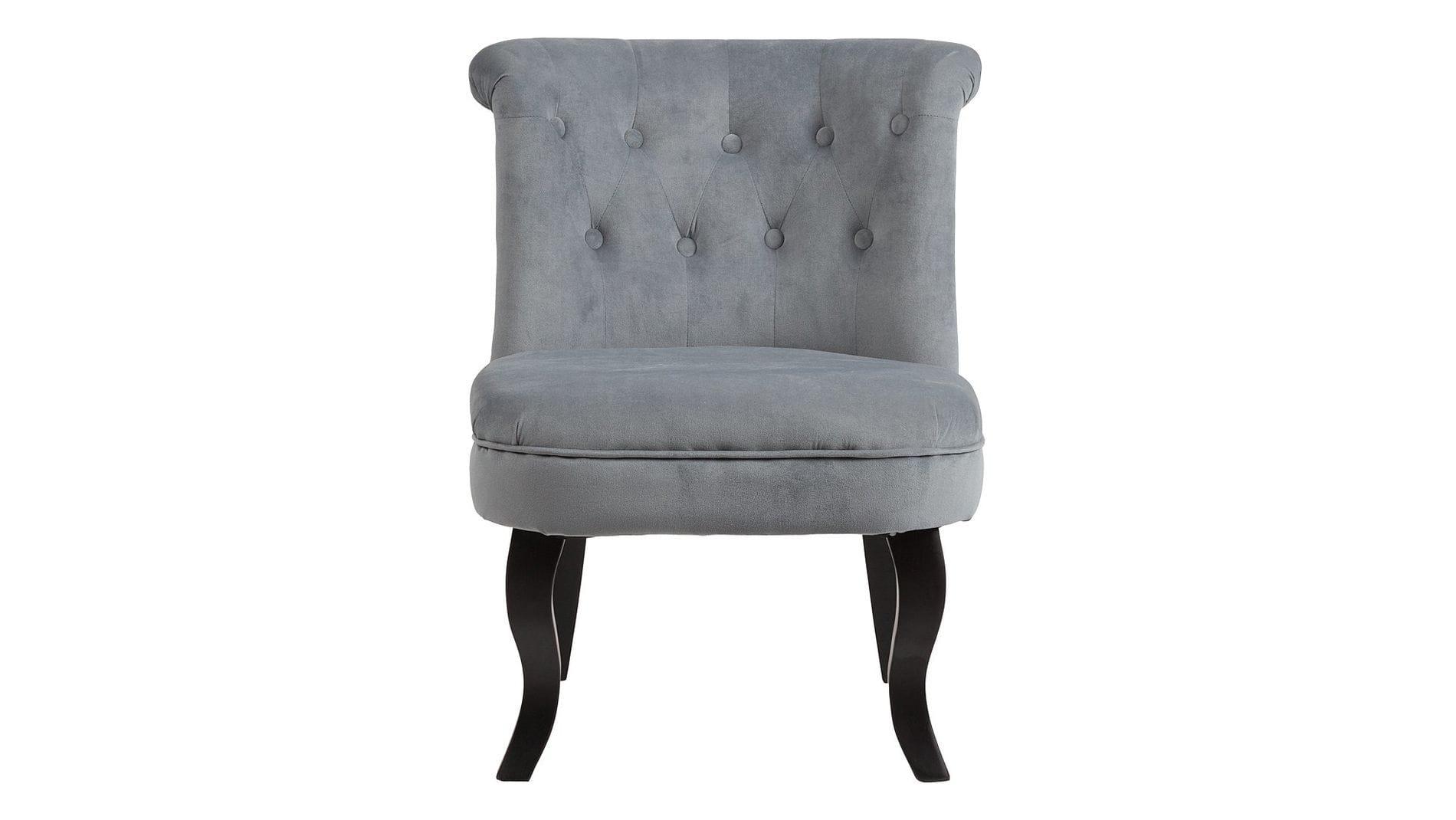 Кресло Dawson Серо-синий Велюр М