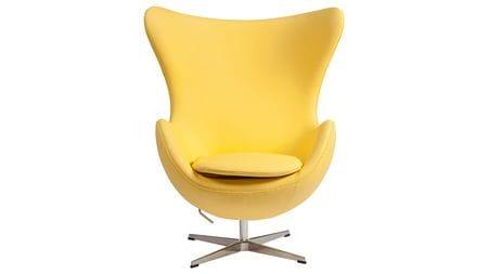 Кресло Egg Chair Желтая Кожа Класса Премиум М
