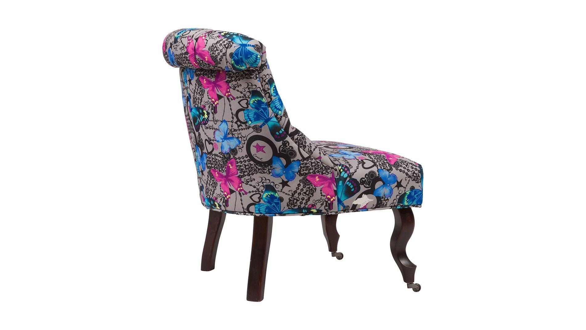 Кресло Amelie French Country Chair Бабочки М