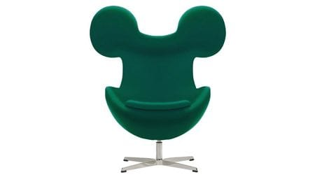 Кресло Egg Mickey Зеленое 100% Шерсть М