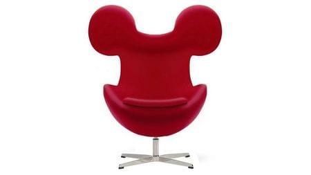 Кресло Egg Mickey Красное 100% Шерсть М