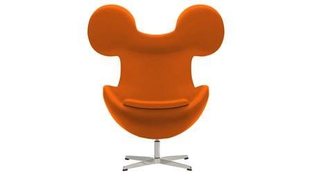 Кресло Egg Mickey Оранжевое 100% Шерсть М