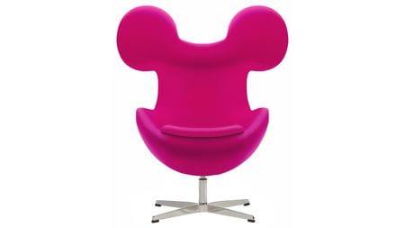 Кресло Egg Mickey Розовое 100% Шерсть М