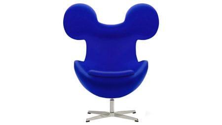 Кресло Egg Mickey Синее 100% Шерсть М