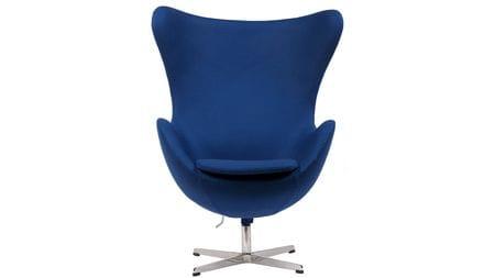 Кресло Egg Chair Синее 100% Шерсть М