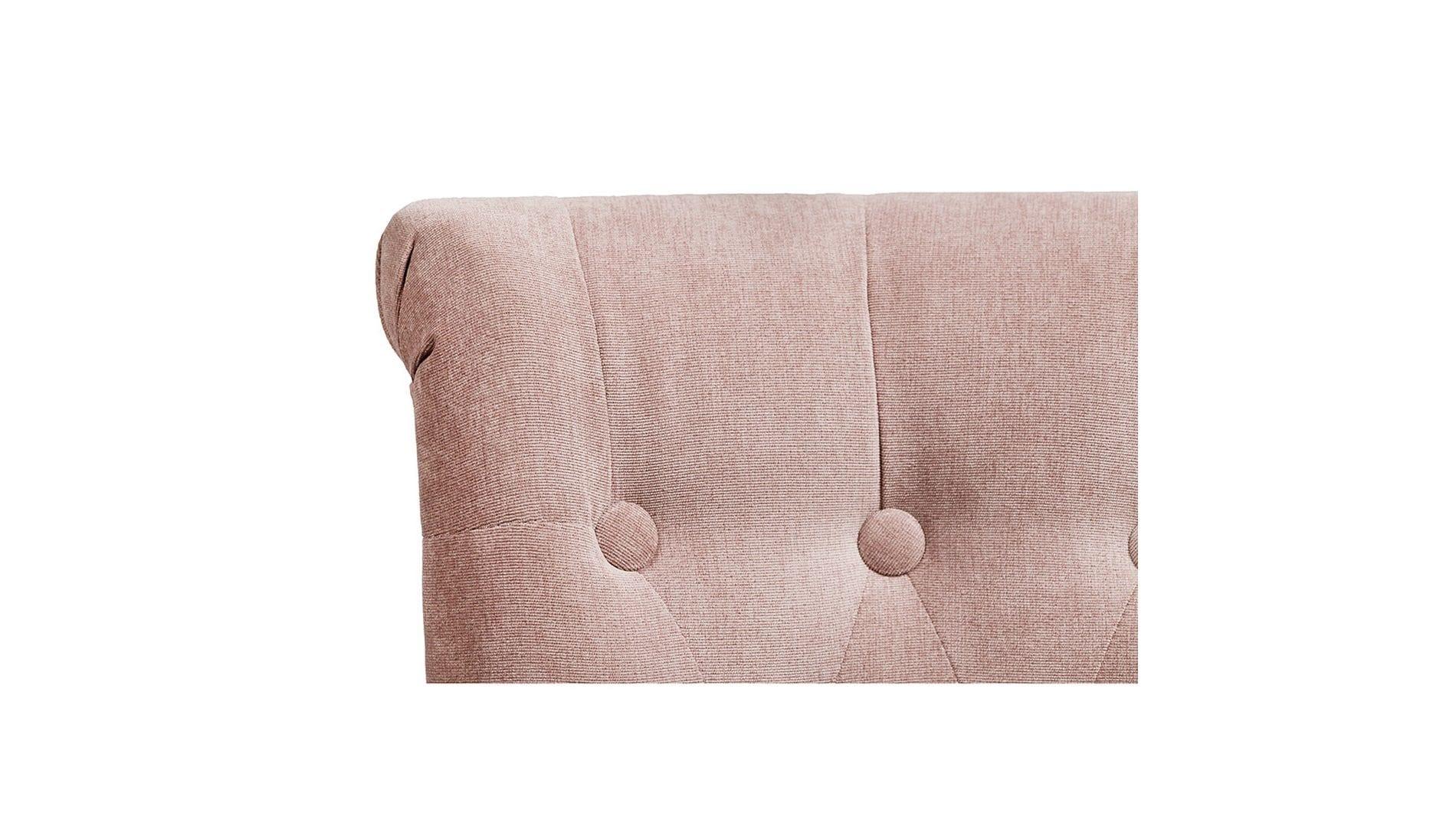 Кресло Dawson Розовато-серый Велюр М