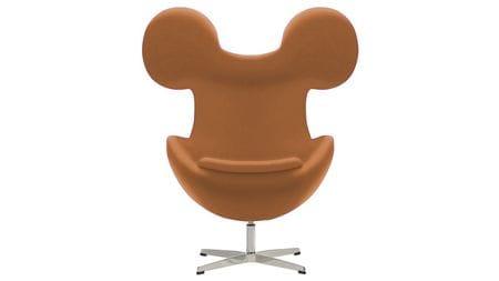 Кресло Egg Mickey Бежевое 100% Шерсть М