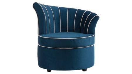 Кресло Shell Синее Велюр