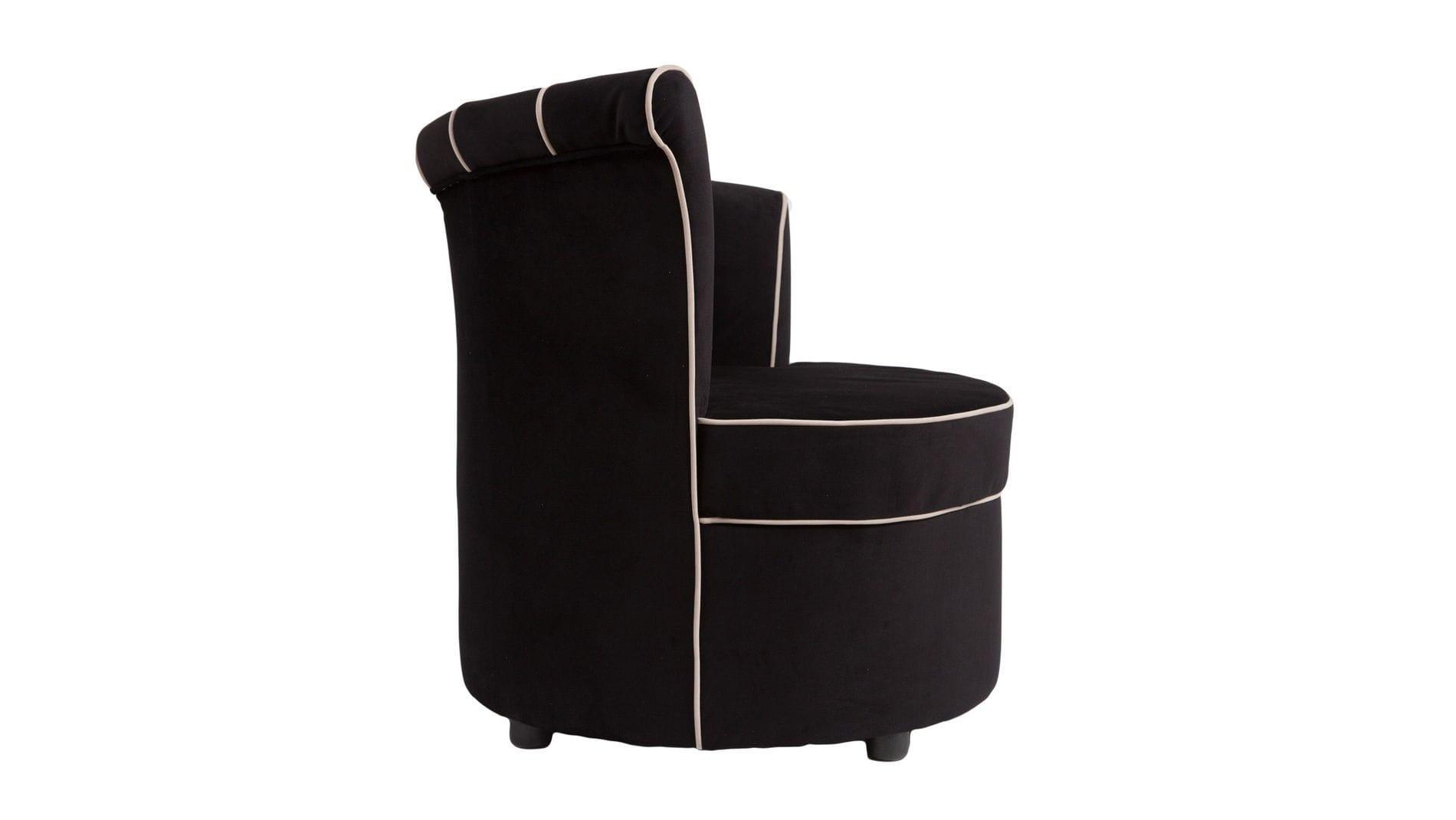 Кресло Shell Чёрный Велюр