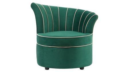 Кресло Shell Зелёное Велюр