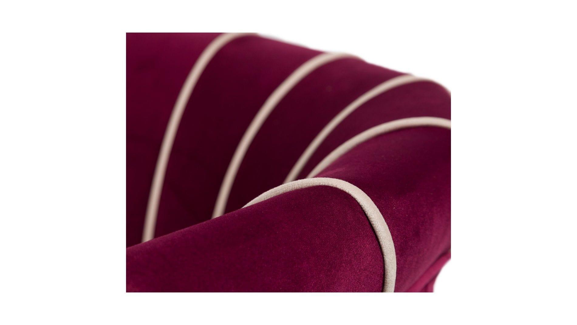 Кресло Shell Фиолетовое Велюр