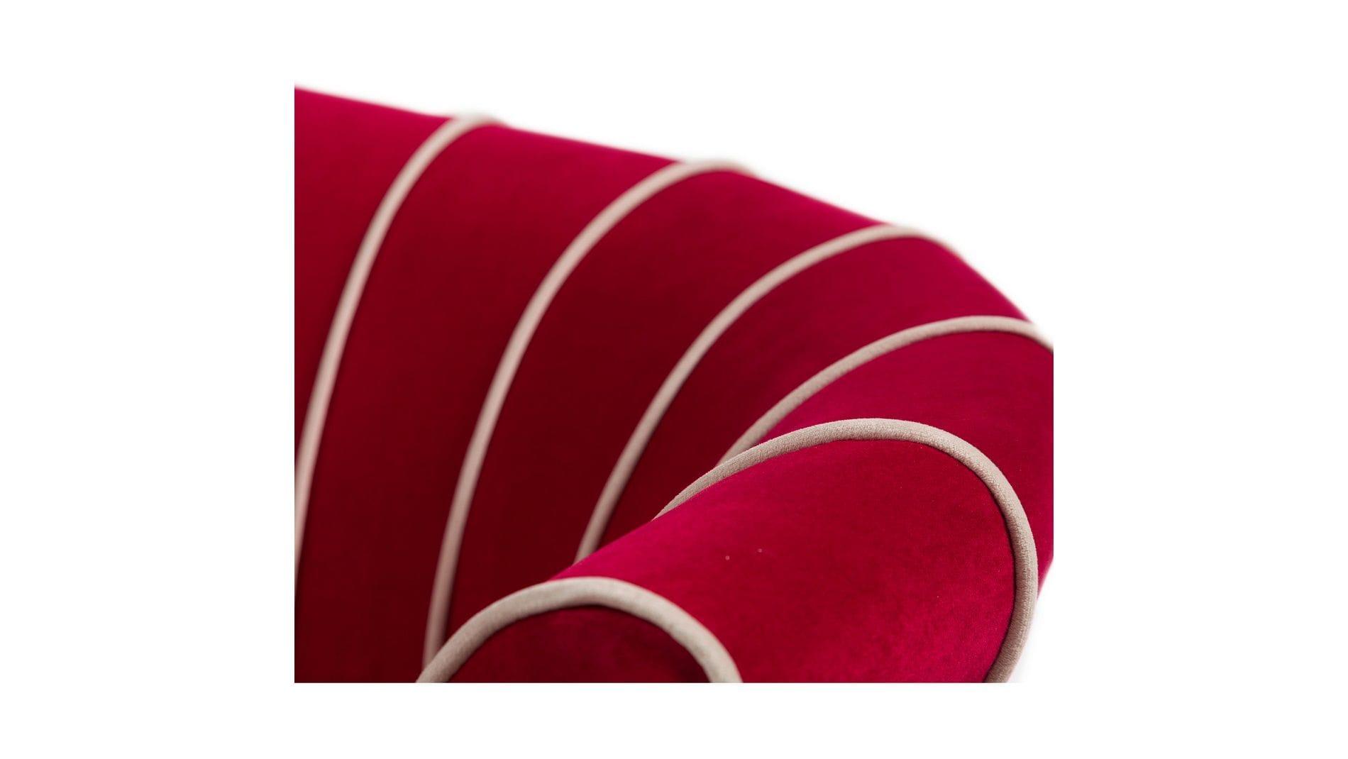 Кресло Shell Малиновое Велюр