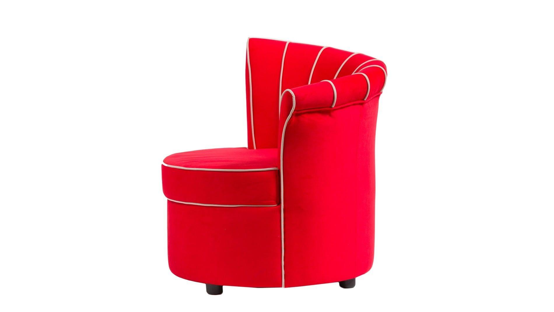 Кресло Shell Красное Велюр