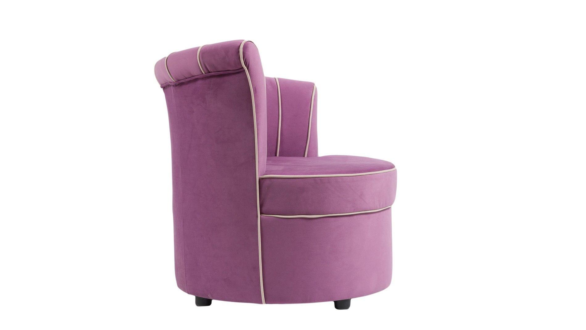 Кресло Shell Сиреневое Велюр