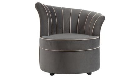 Кресло Shell Серое Велюр
