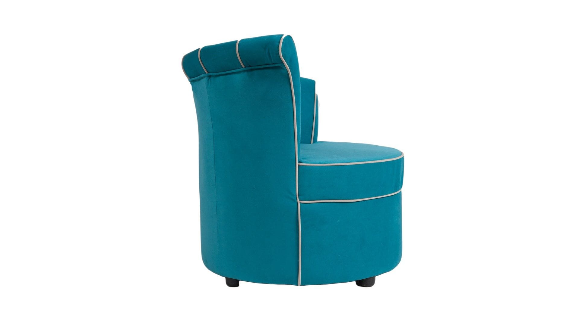 Кресло Shell Голубой Велюр