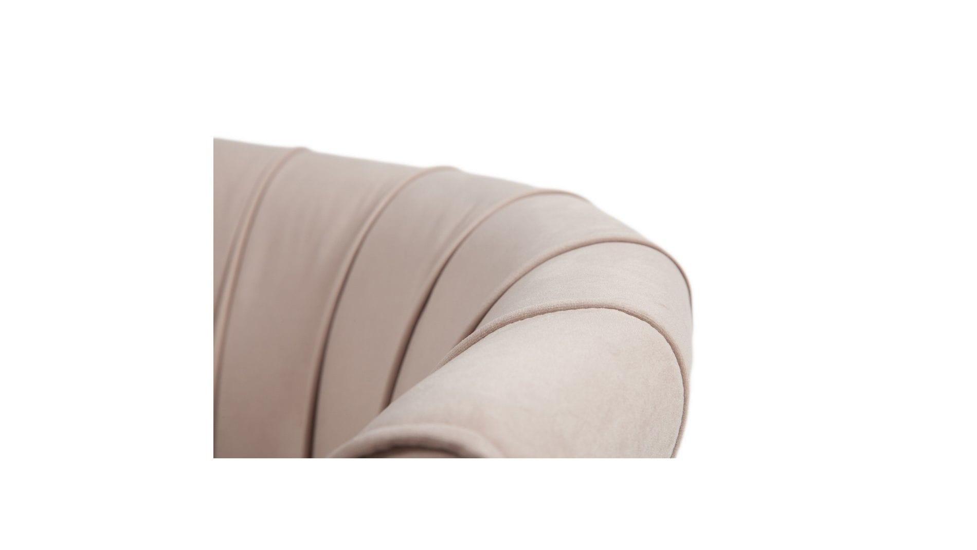 Кресло Shell Бежевый Велюр