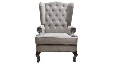 Каминное кресло с ушами Велюр Тёмно-серый РМ