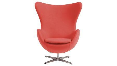 Кресло Egg Chair Коралловое 100% Шерсть М