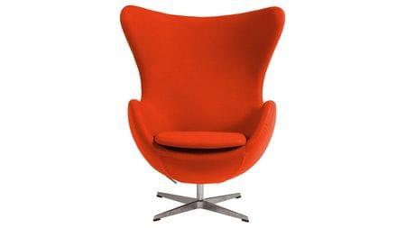 Кресло Egg Chair Морковное 100% Шерсть М