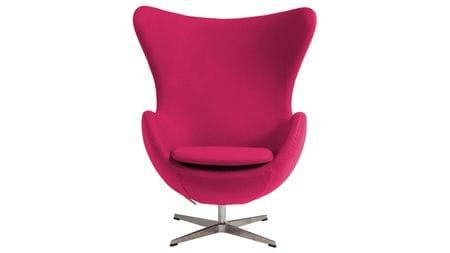 Кресло Egg Chair Малиновое 100% Шерсть М