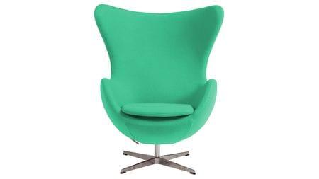Кресло Egg Chair Зелёное 100% Шерсть М