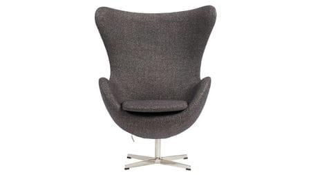 Кресло Egg Chair Серое 100% Шерсть М