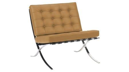 Кресло Barcelona Chair Ореховая Экокожа Р