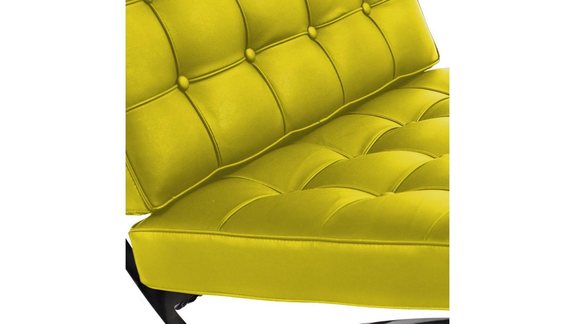Кресло Barcelona Chair Лимонная Кожа Класса Премиум Р