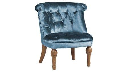 Кресло Sophie Tufted Slipper Chair Морская Волна Микровелюр М