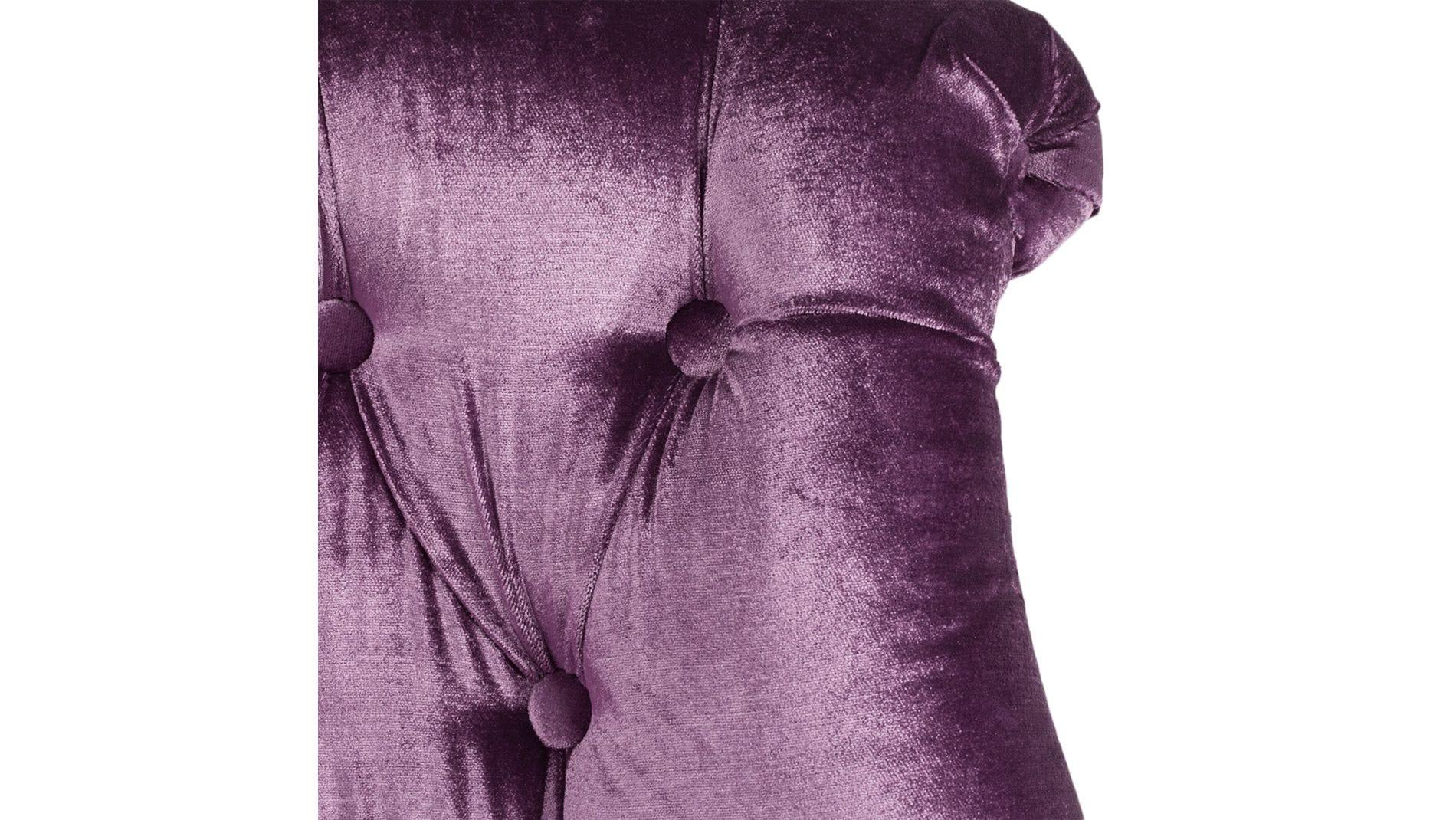 Кресло Sophie Tufted Slipper Chair Фиолетовый Микровелюр М