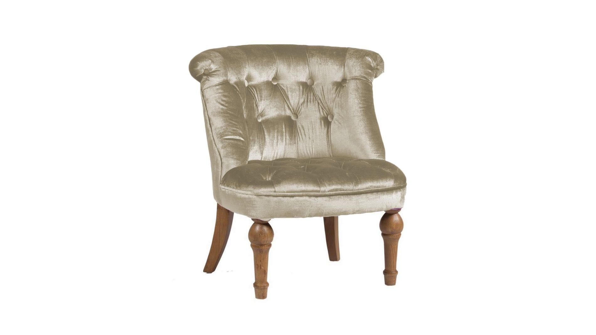 Кресло Sophie Tufted Slipper Chair Молочный Микровелюр М