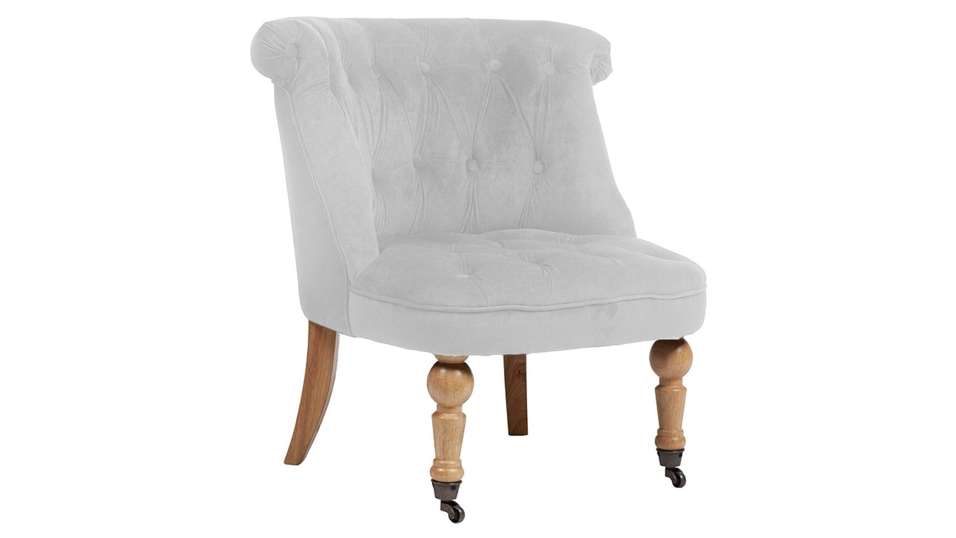 Кресло Amelie French Country Chair Молочный Велюр М