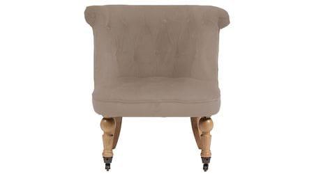 Кресло Amelie French Country Chair Бежевый Велюр М