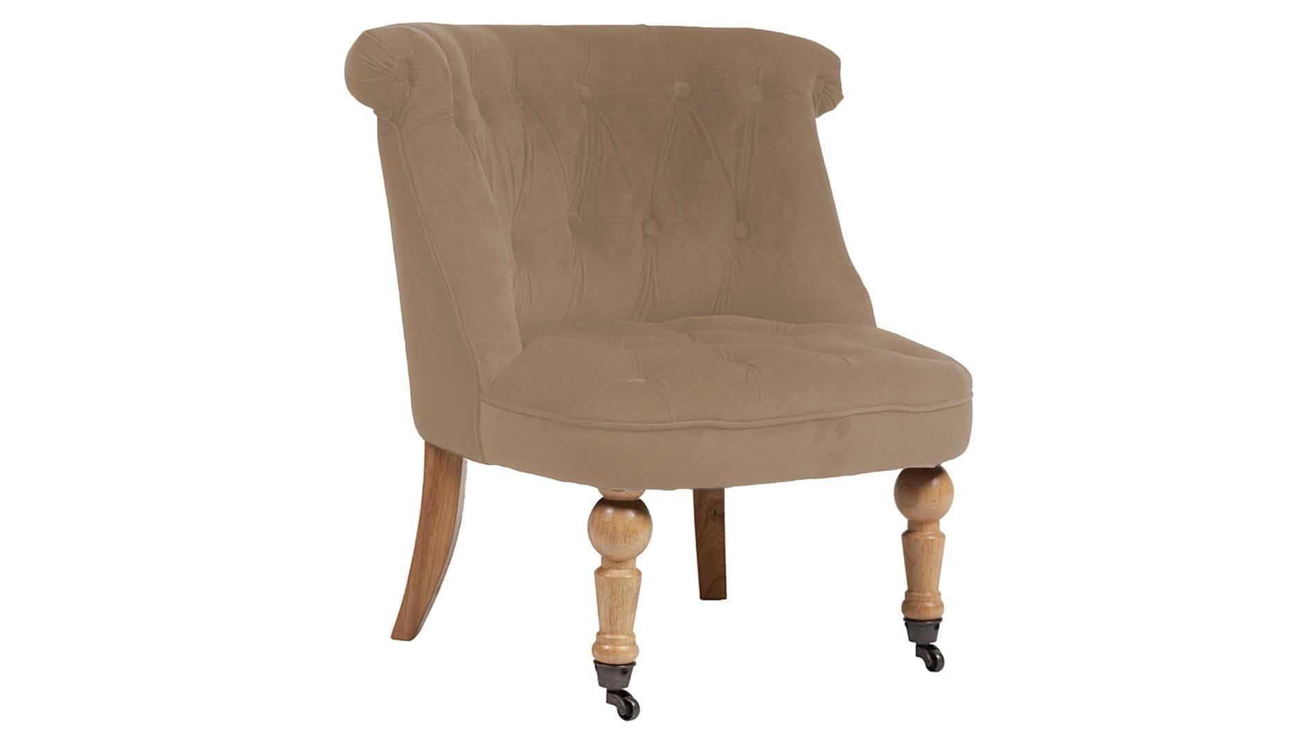 Кресло Amelie French Country Chair Светло-Коричневый Велюр М