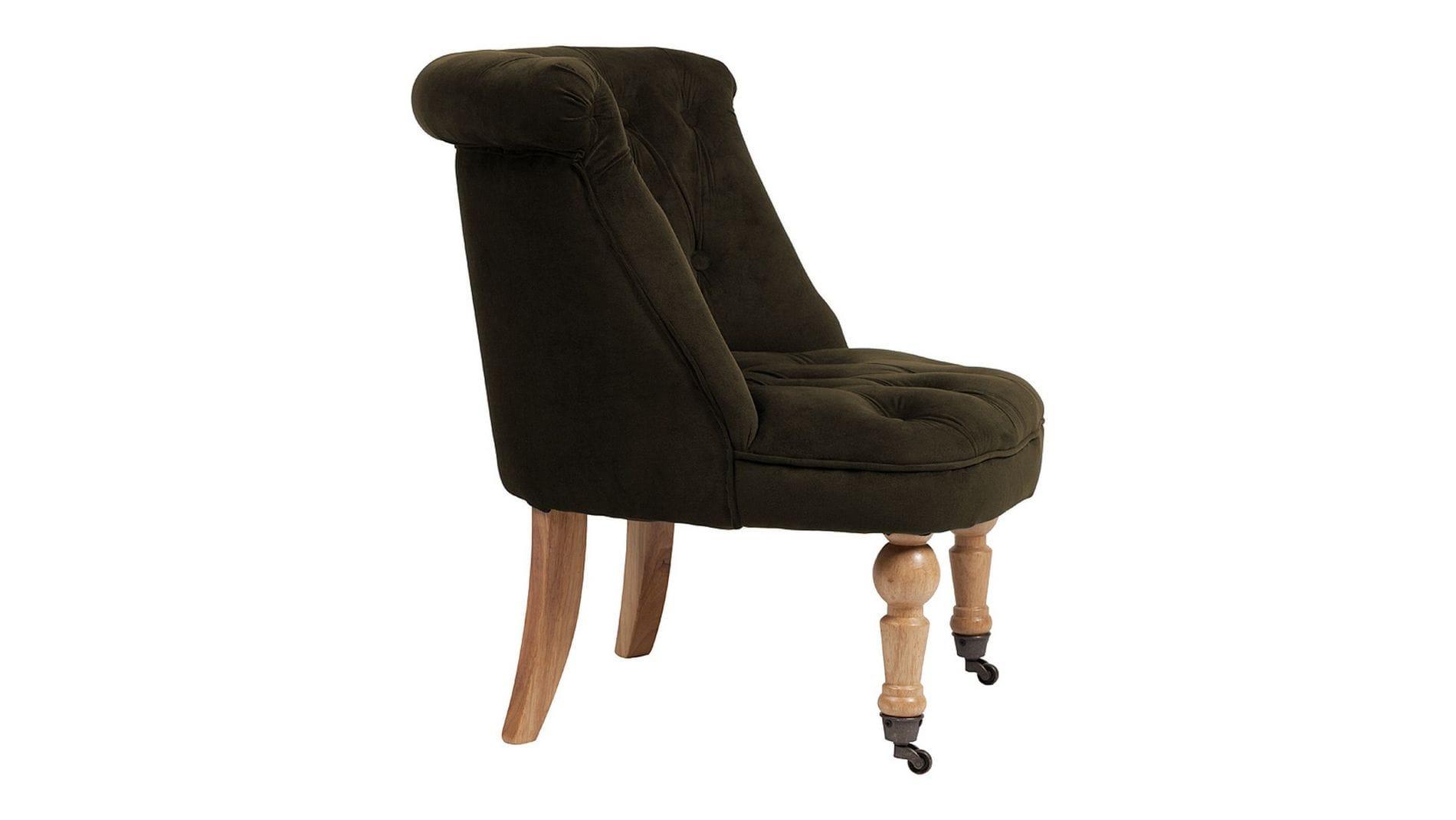 Кресло Amelie French Country Chair Серо-Коричневый Велюр М
