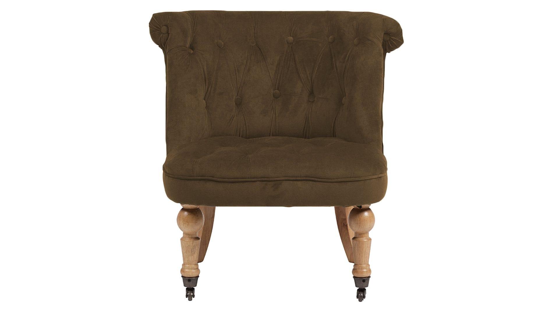Кресло Amelie French Country Chair Тёмно- Коричневый Велюр М