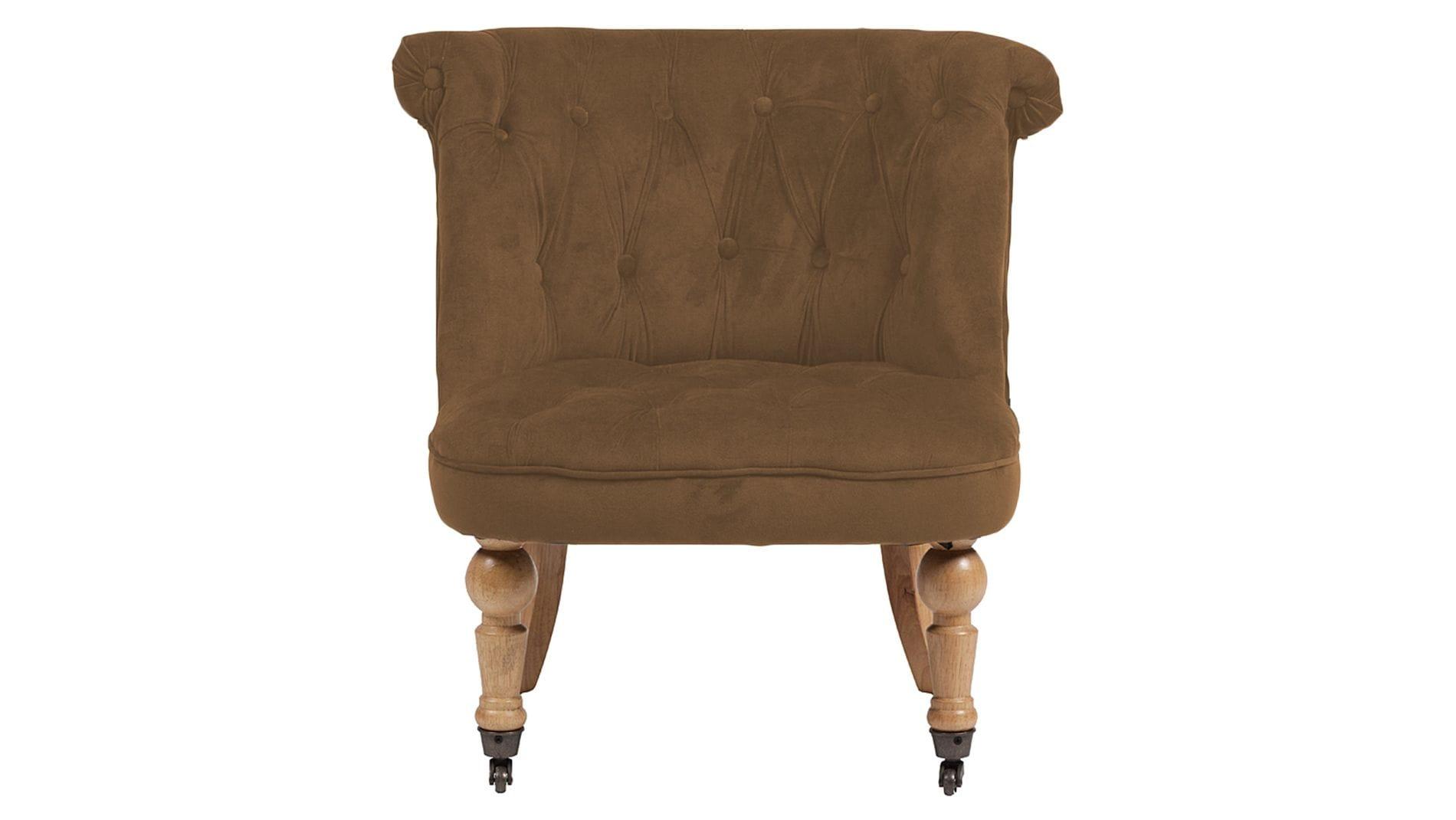 Кресло Amelie French Country Chair Коричневый Велюр М