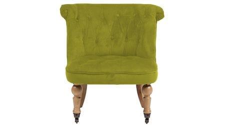 Кресло Amelie French Country Chair Оливковый Велюр М