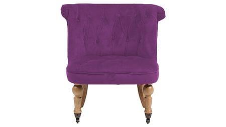 Кресло Amelie French Country Chair Фиолетовый Велюр М