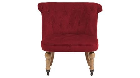 Кресло Amelie French Country Chair Красный Велюр М